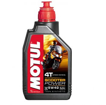 MOTUL SCOOTER POWER 4T MA 5W40 (1 ЛИТР)