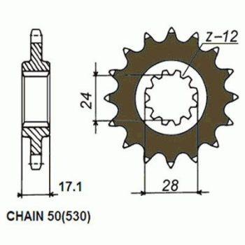 Звезда ведущая SUNSTAR SUNF520-15