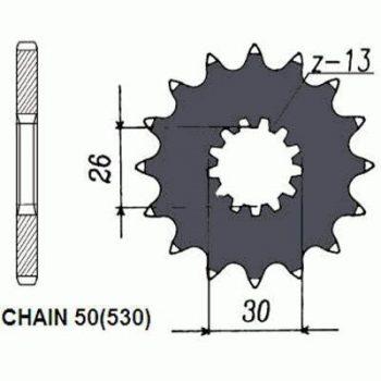 Звезда ведущая SUNSTAR SUNF524-18